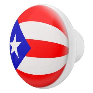 Puerto Rico Puerto Rican Flag Ceramic Knob