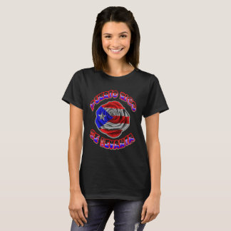 Puerto Rico Se Levanta ROSE BLACK T T-Shirt