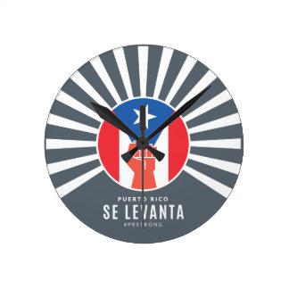 Puerto Rico Se Levanta Round Clock