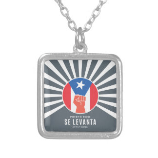 Puerto Rico Se Levanta Silver Plated Necklace