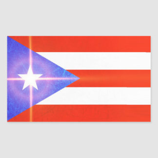 Puerto Rico Shining Star Flag Stickers