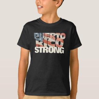 Puerto Rico Strong American Flag Puerto Rican T-Shirt