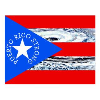 Puerto Rico  Strong Hurricane Flag Post card