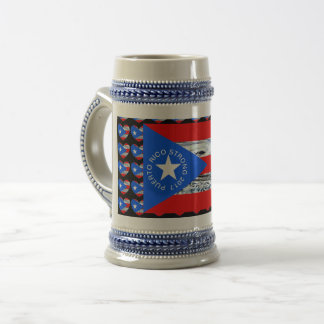 PUERTO RICO Strong Hurricane Flag Stine Beer Stein