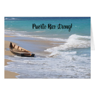 Puerto Rico strong Seasons Greetings card