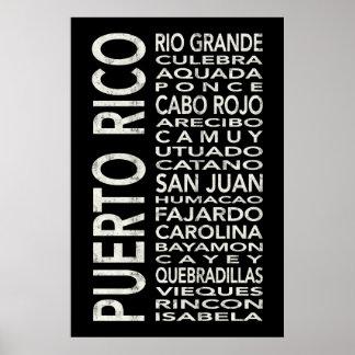 Puerto Rico Subway Art Bus Scroll Poster