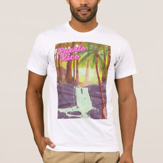 Puerto Rico Tropical Palm travel poster T-Shirt