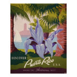 Puerto Rico Vintage Travel Poster Art Print