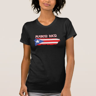 Puerto Rico with Island Flag T-Shirt