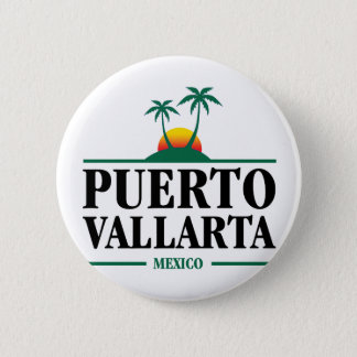 Puerto Vallarta Mexico 2 Inch Round Button