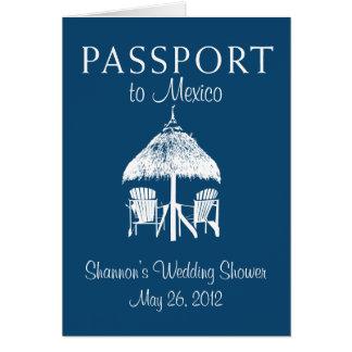 Puerto Vallarta Mexico Passport Bridal Shower Card
