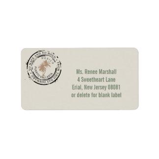 Puerto Vallarta Mexico Passport Palm Tree Stamp