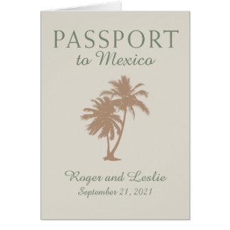 Puerto Vallarta Mexico Wedding Passport Card