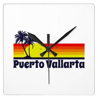 Puerto Vallarta Square Wall Clock