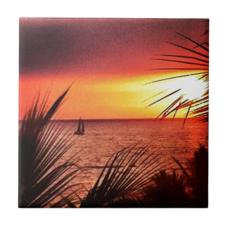 Puerto Vallarta Sunset Tile