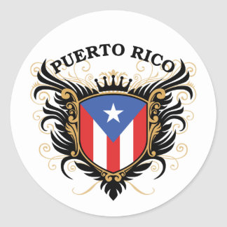 Puertorico Classic Round Sticker