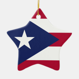 Puertorico flag ceramic star ornament
