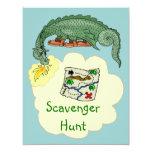 Puff Dragon & Scavenger Hunt Map Invitations