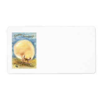 Puffball Fluffy Easter Chick Fly Shipping Label