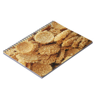 Puffed Rice Cakes ~ Asian Sweets Desserts Food Spiral Note Books