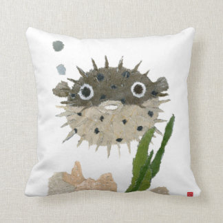 Puffer, Blowfish Throw Pillow