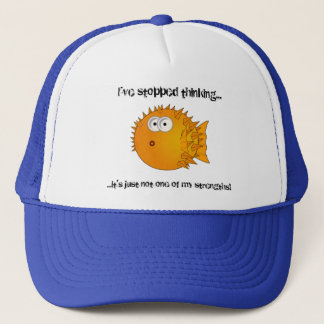 Puffer fish - funny sayings trucker hat
