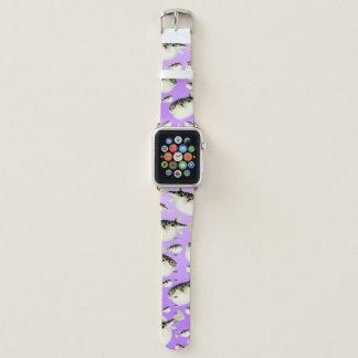Puffer Fish Purple Pattern Apple Watch Band