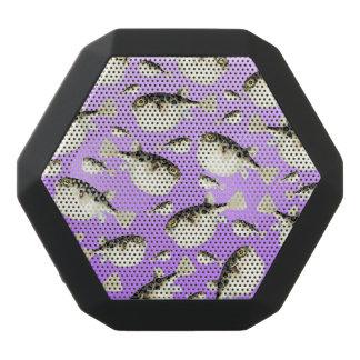 Puffer Fish Purple Pattern Black Bluetooth Speaker
