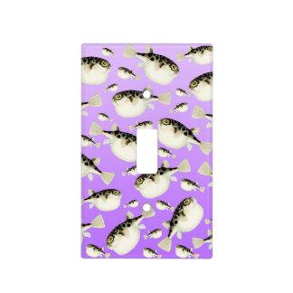 Puffer Fish Purple Pattern Light Switch Cover