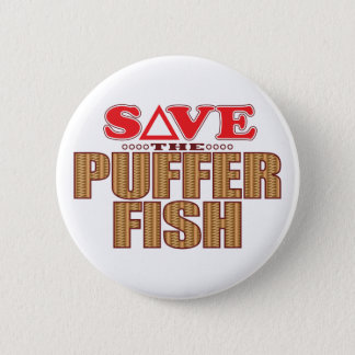 Puffer Fish Save 2 Inch Round Button