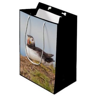 Puffin bird medium gift bag