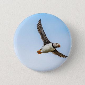 Puffin Bird Sea Flight Wildlife Fly Feather 2 Inch Round Button
