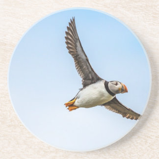 Puffin Bird Sea Flight Wildlife Fly Feather Coaster