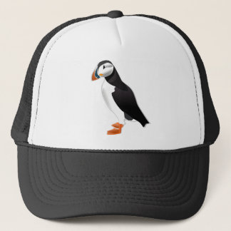 puffin bird trucker hat