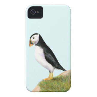 Puffin Bird Watercolour Painting Print fratercula iPhone 4 Case-Mate Case