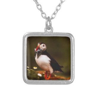 Puffin Fish Animal Bird Wildlife Atlantic Island Silver Plated Necklace