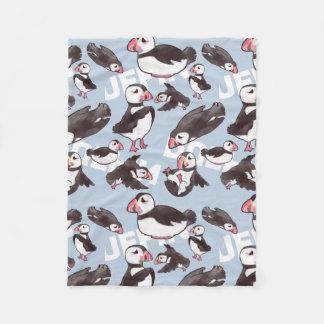 Puffin Fleece Baby Blanket