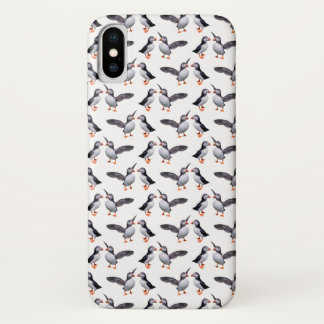 Puffin Frenzy iPhone X Case (Choose Colour)
