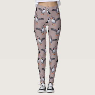 Puffin Frenzy Leggings (Dusty Pink)