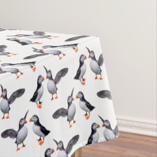 Puffin Frenzy Tablecloth
