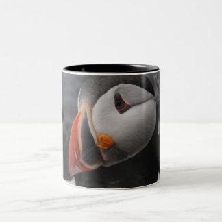 Puffin Head Two-Tone Coffee Mug