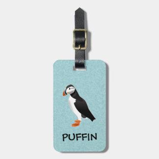 puffin luggage tag