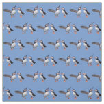 Puffin Pals Fabric (Light Blue)