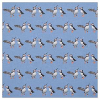 Puffin Pals Fabric (Light Blue)