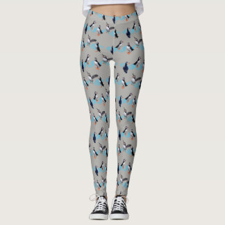 Puffin Party Leggings (Grey)