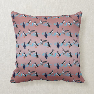 Puffin Party Pillow (Dusty Pink Mix)