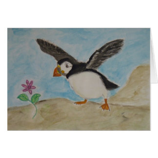 puffin pleasures card