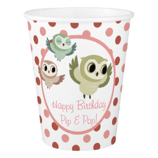 Puffin Rock Party Cup - The Hoots