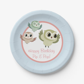 Puffin Rock Party Cup - The Hoots Paper Plate