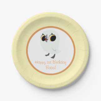 Puffin Rock Party Plate - Baba 7 Inch Paper Plate